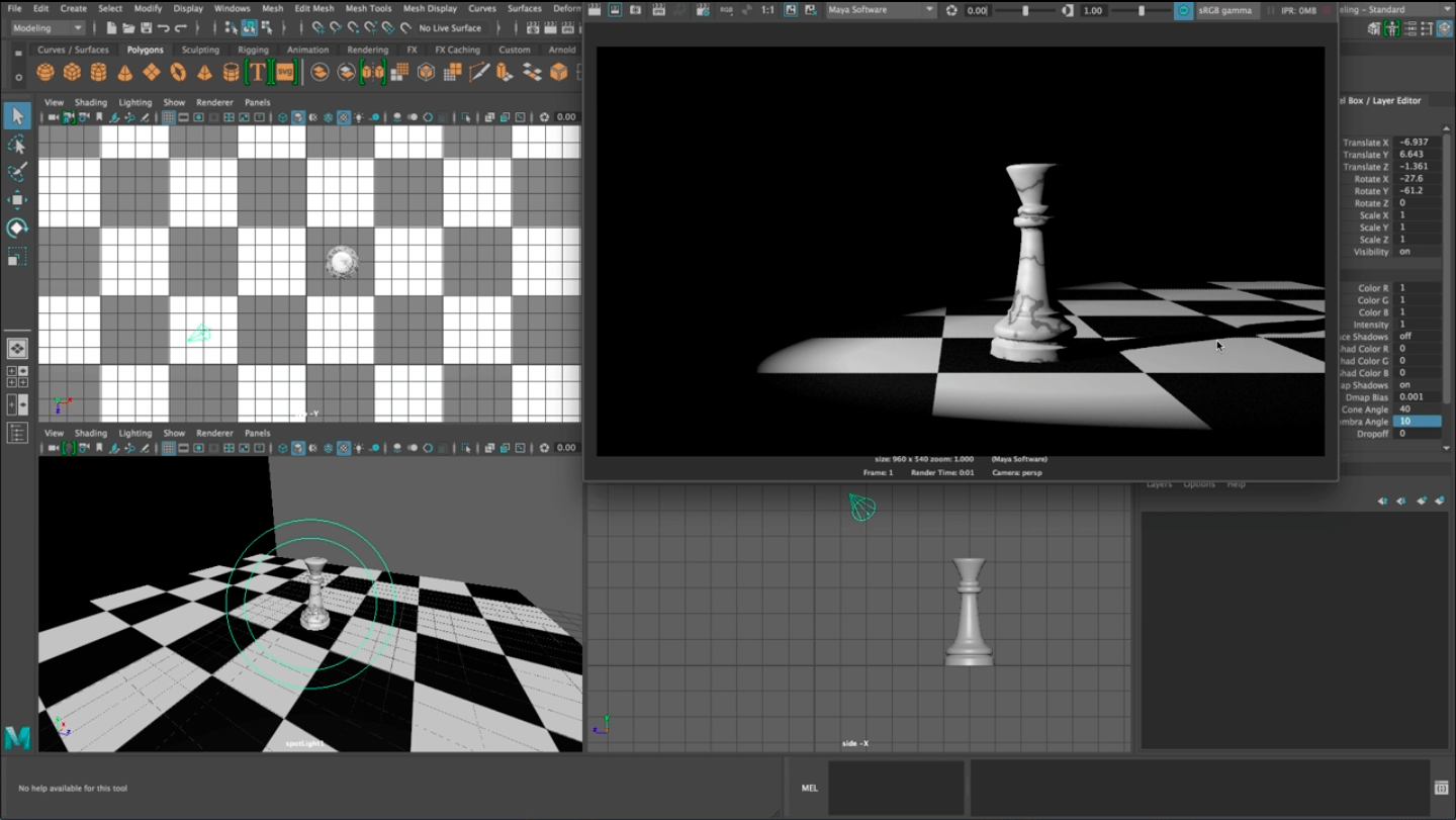 Creating 3-Point Lighting for Animated Scenes in Maya – Kadenze Blog