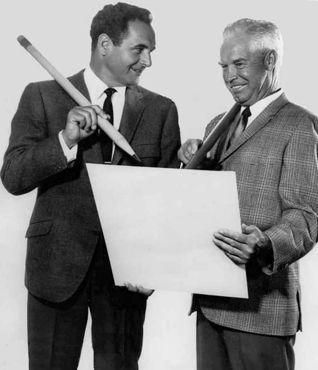 Bill Hanna (right) and Joseph Barbera (left). Source: Wikimedia Commons